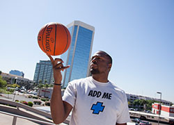 Cedric Ceballos representing the Get Added Campaign